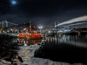 Port in the winter